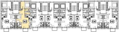 Pôdory poschodia č. 4 s vyznačením bytom 402