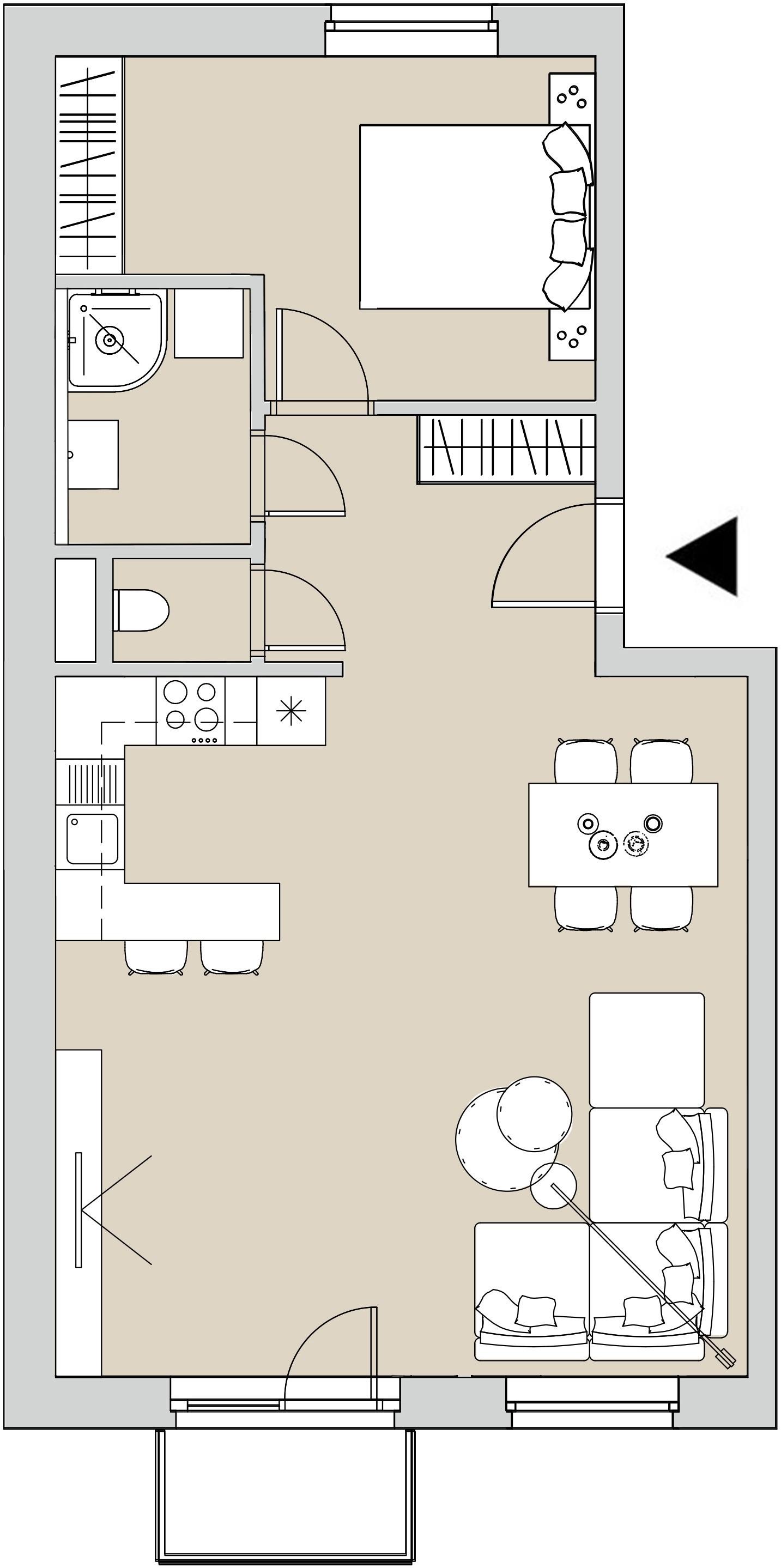 Pôdory bytu - 207 - varianta 2 - izbový