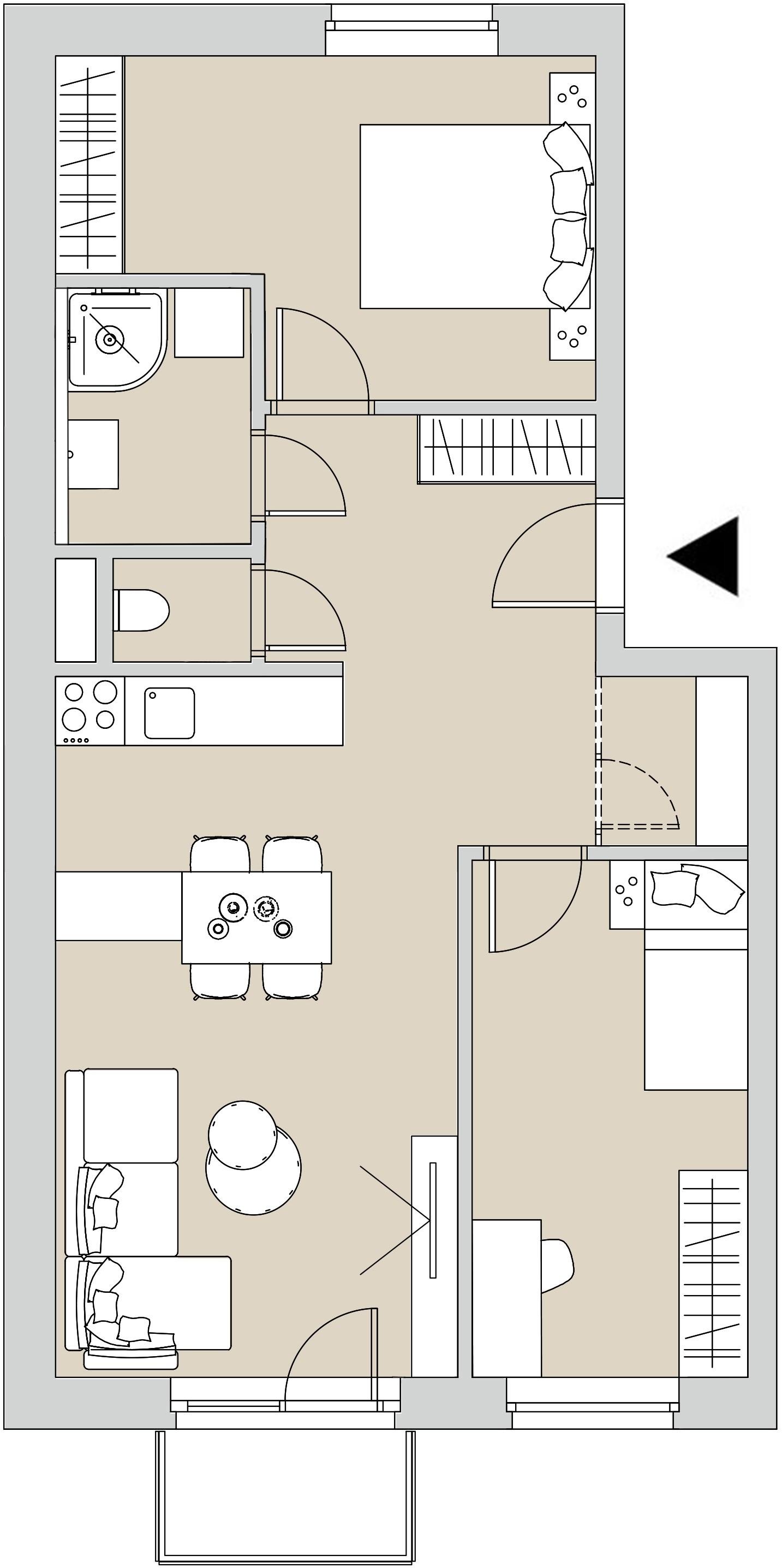 Pôdory bytu - 407 - varianta 3 - izbový