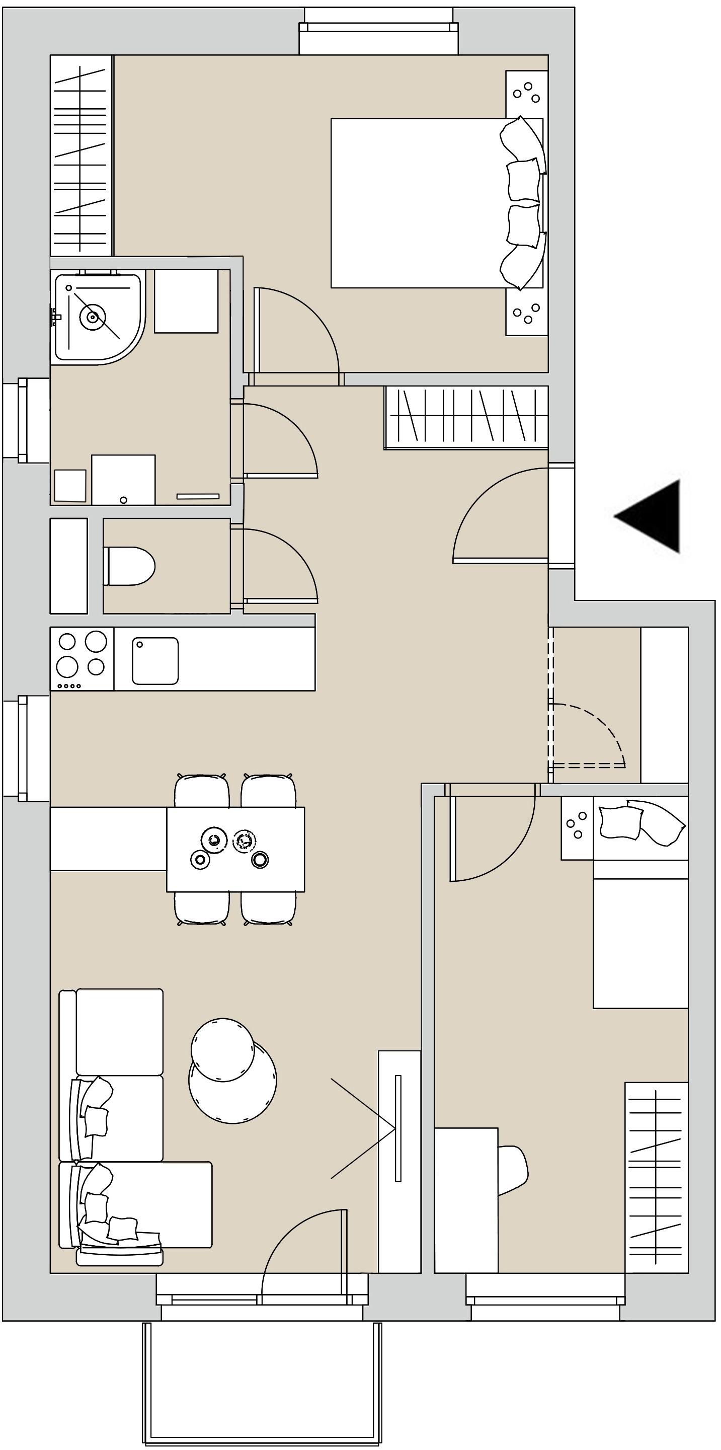 Pôdory bytu - 401 - varianta 3 - izbový