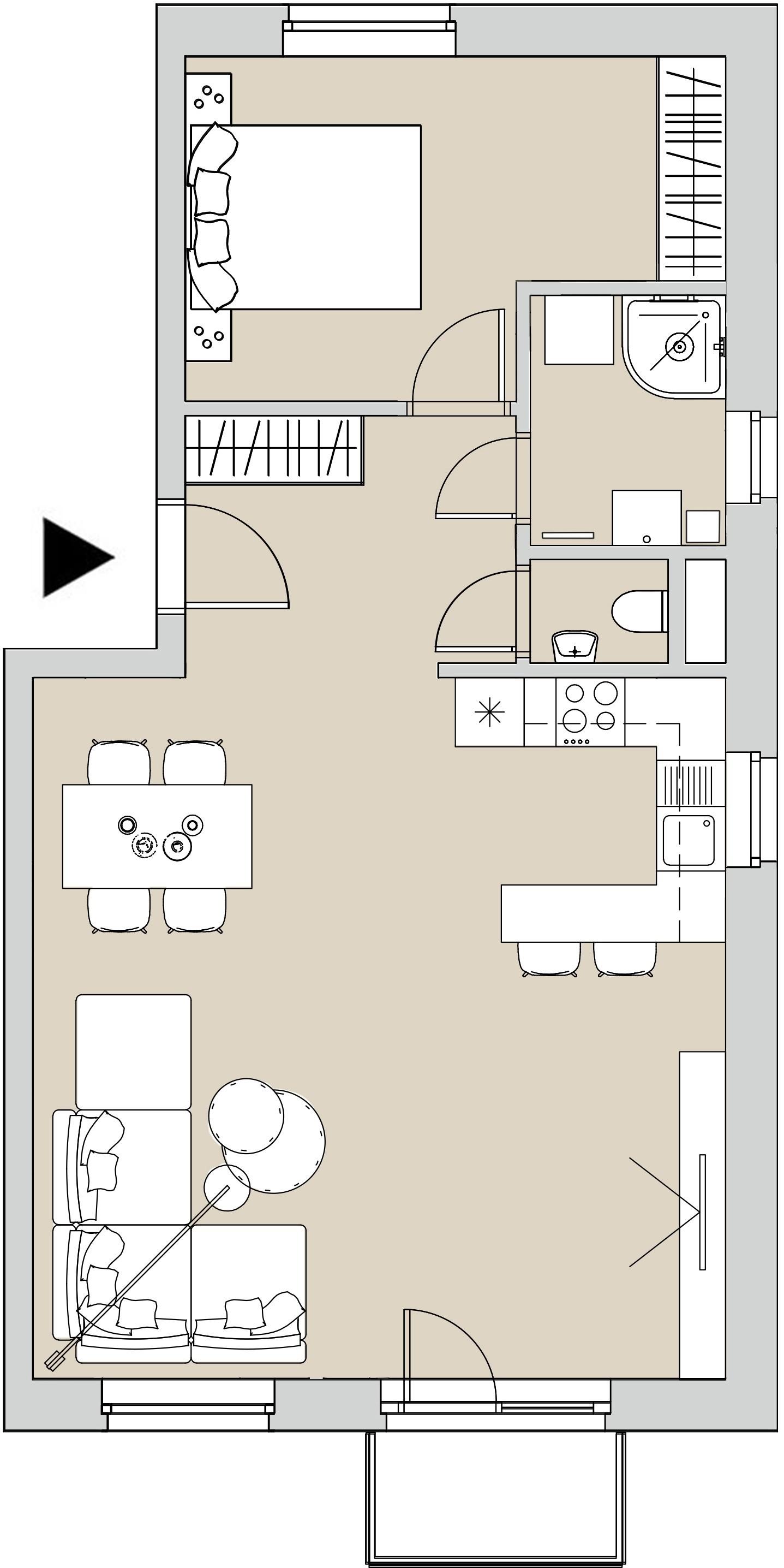 Pôdory bytu - 408 - varianta 2 - izbový