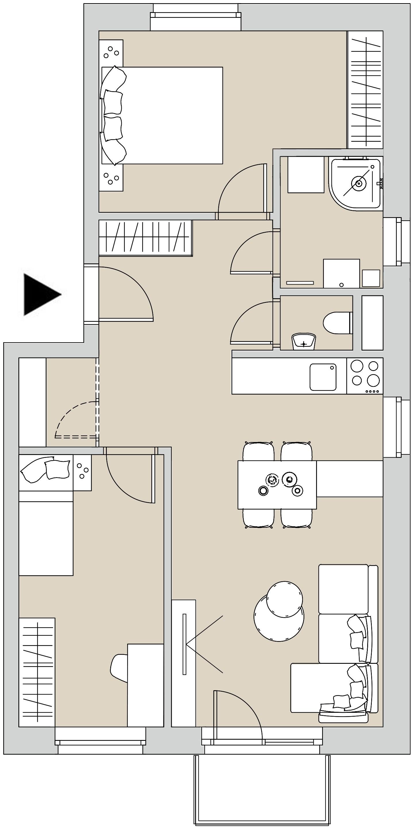 Pôdory bytu - 308 - varianta 3 - izbový