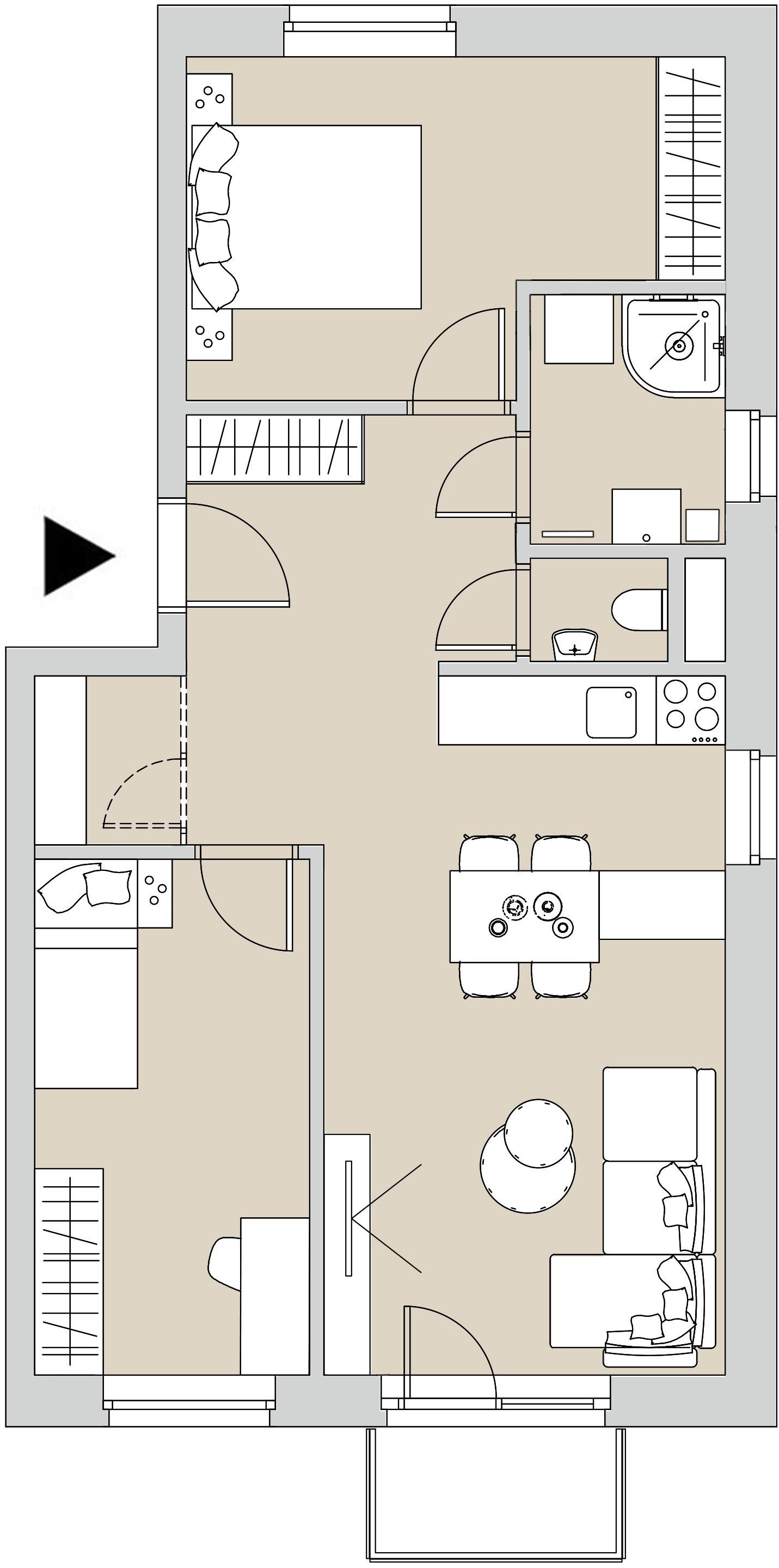 Pôdory bytu - 208 - varianta 3 - izbový