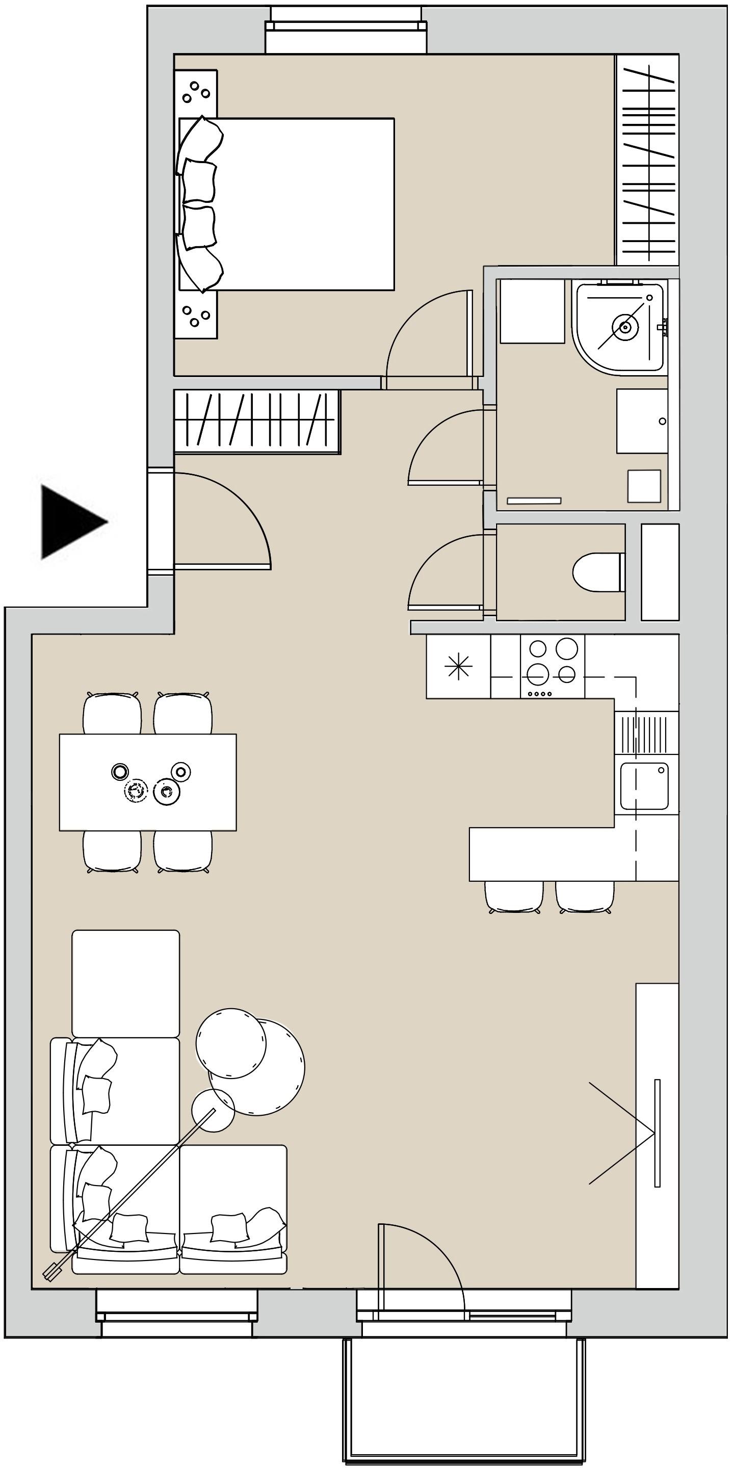 Pôdory bytu - 302 - varianta 2 - izbový