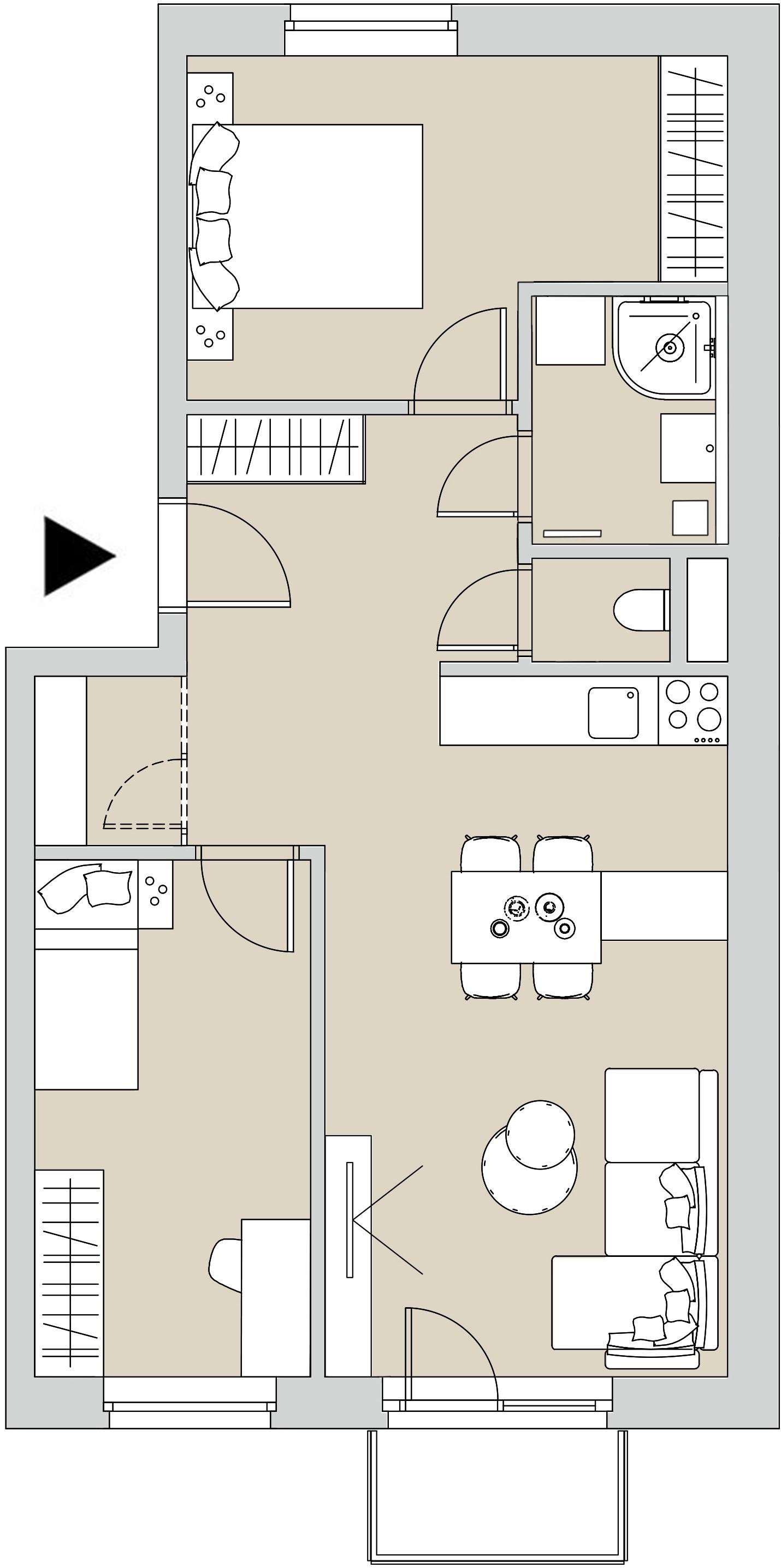 Pôdory bytu - 202 - varianta 3 - izbový