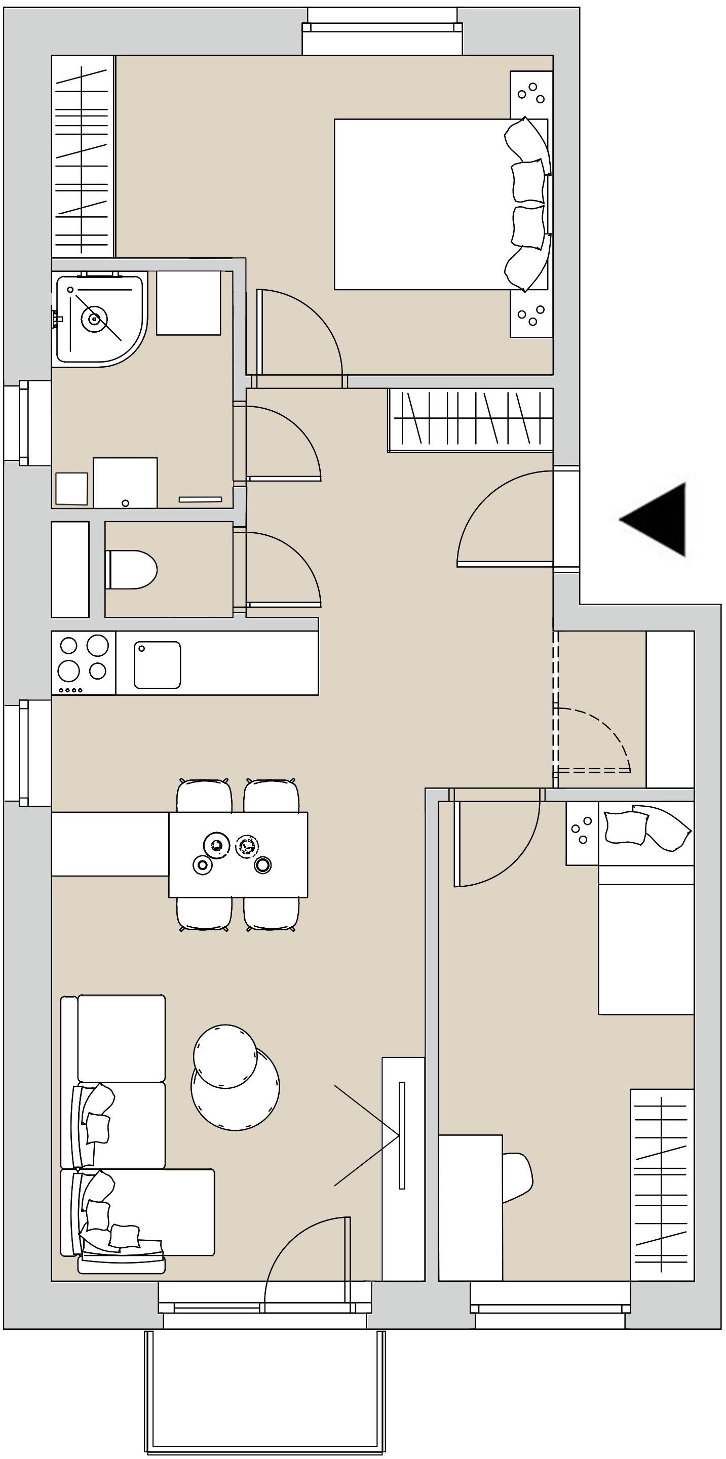 Pôdory bytu - 301 - varianta 3 - izbový