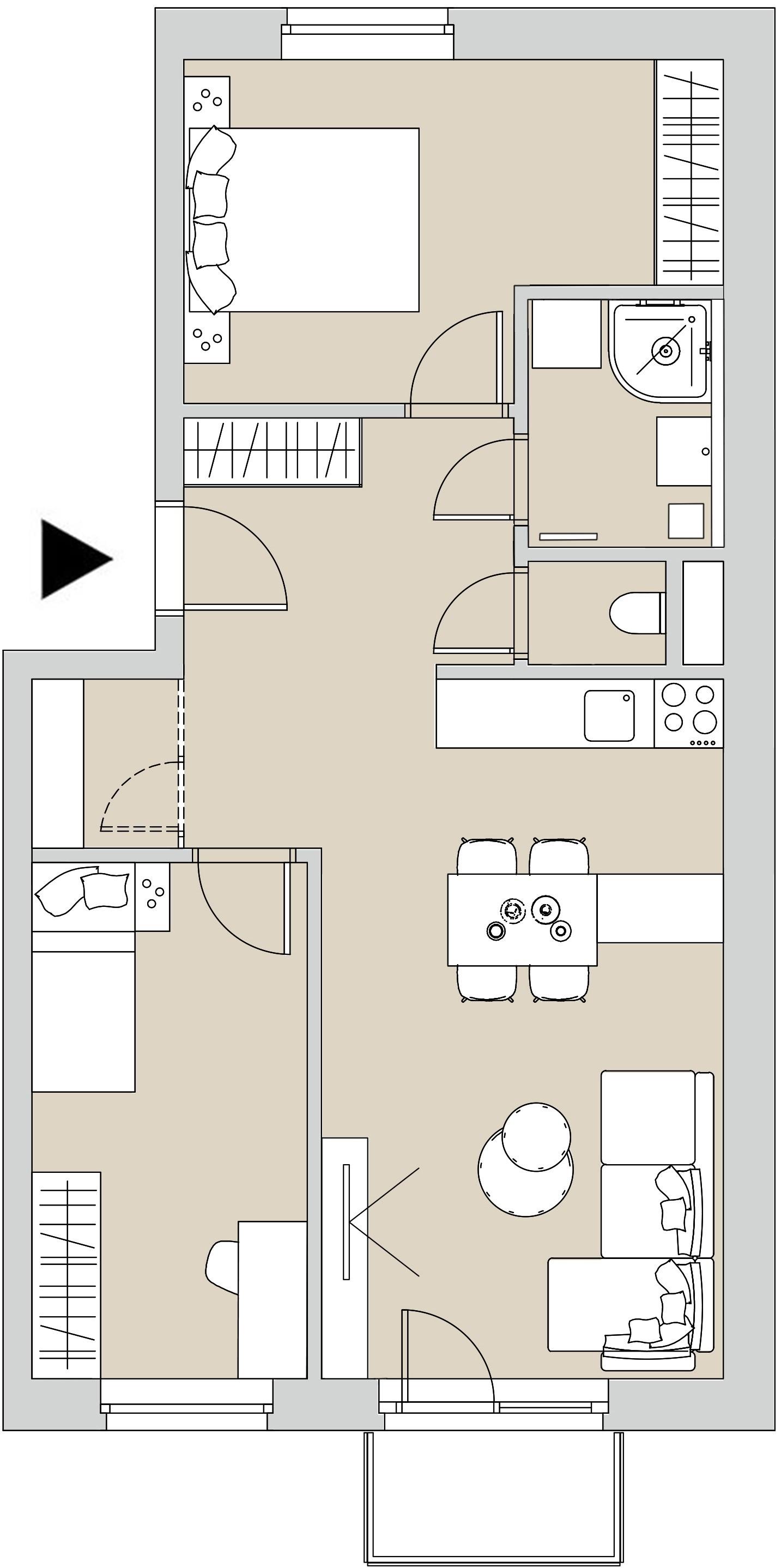 Pôdory bytu - 402 - varianta 3 - izbový