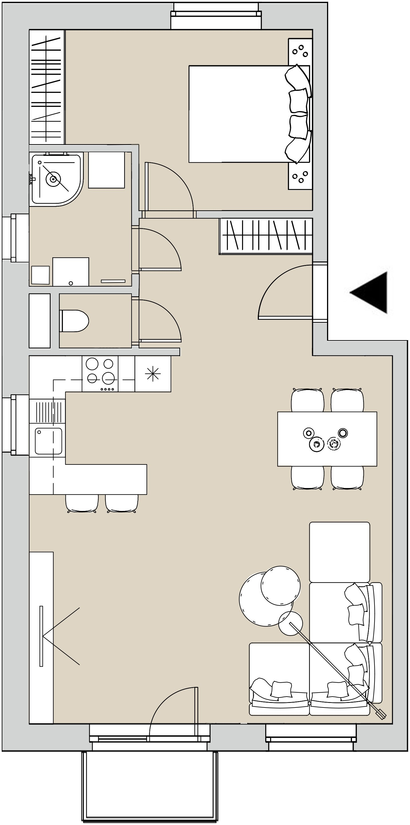 Pôdory bytu - 201 - varianta 2 - izbový