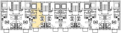Pôdory poschodia č. 4 s vyznačením bytom 403
