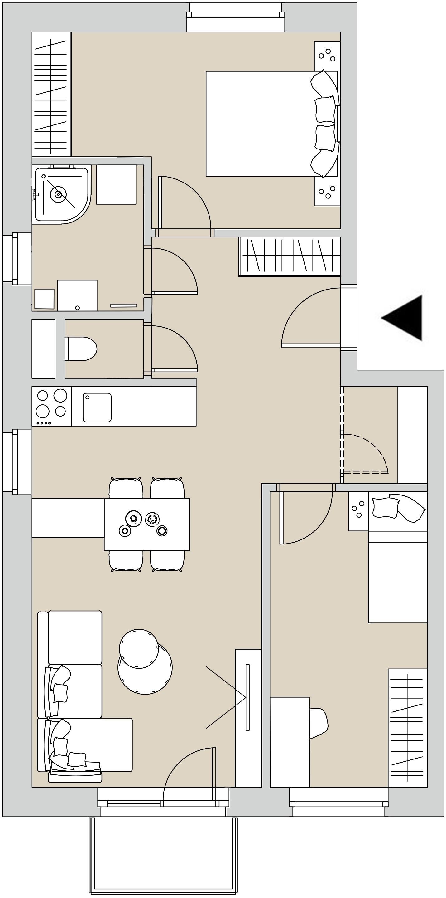 Pôdory bytu - 201 - varianta 3 - izbový