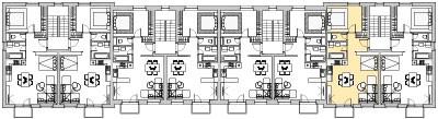 Pôdory poschodia č. 2 s vyznačením bytom 207