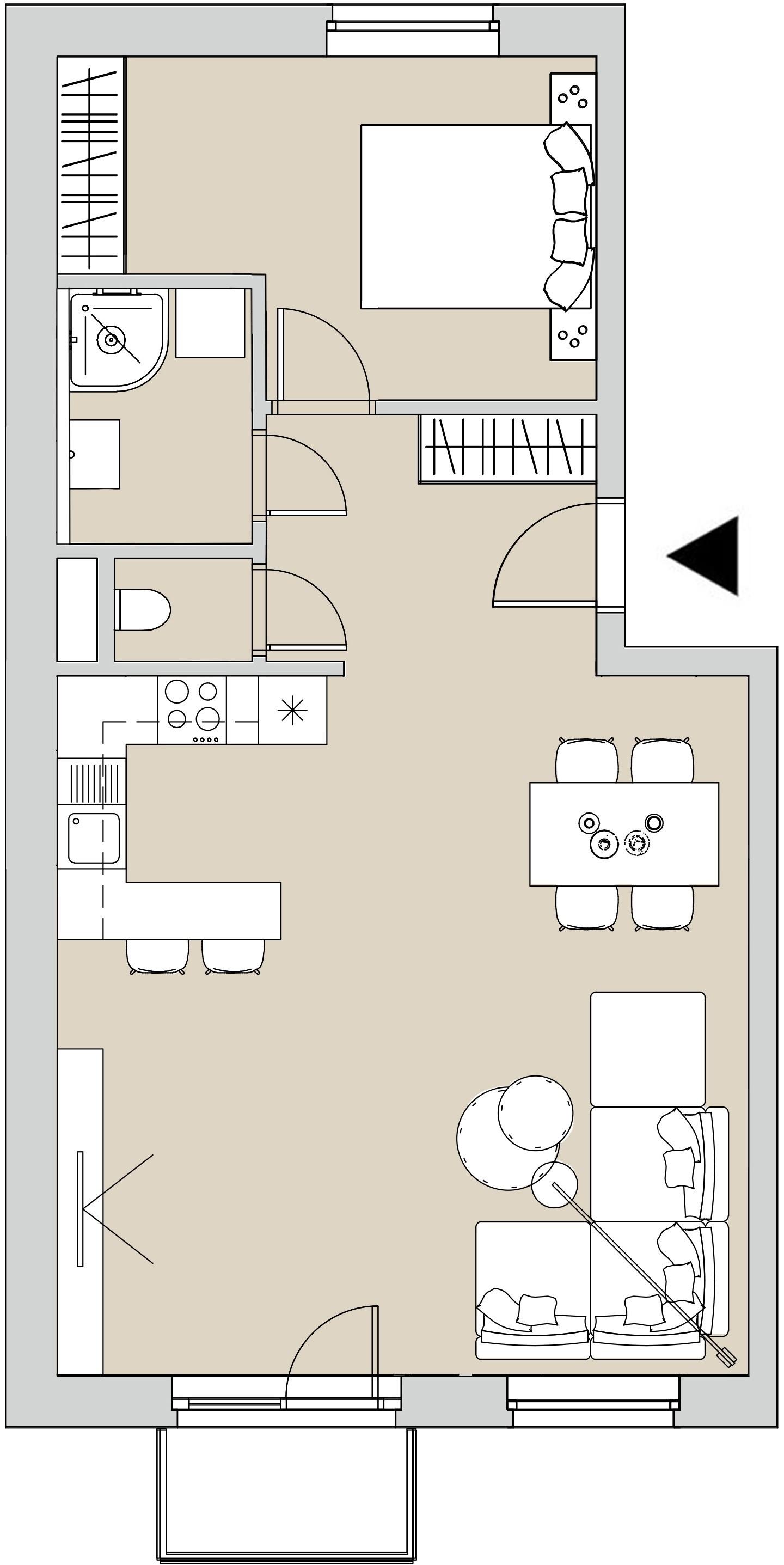 Pôdory bytu - 407 - varianta 2 - izbový